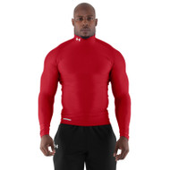 Under Armour Mens Coldgear Long Sleeve Compression Mock - Red