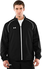 Under Armour Mens Advance Woven Warm-up Jacket - Black