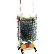 Portable volleyball net cart