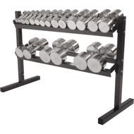 "48"" 2 tier heavy duty stell dumbell rack"