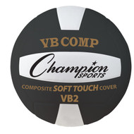 Official Size Composite Volleyball - Black