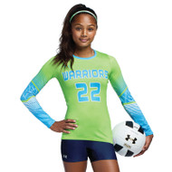 Under Armour Armourfuse Youth Long Sleeve Volleyball Jersey - Rally