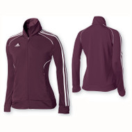 Adidas Womens Performance Basic Jacket - Maroon/White