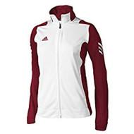 Adidas Womens Scorch Sideline Jacket - Maroon/White
