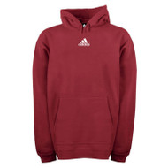 Adidas Mens Team Fleece Hoodie - Maroon