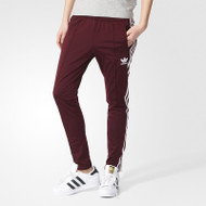 Adidas Womens Performance Basics Pants - Maroon/White