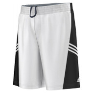 Adidas Mens Team Basketball Short - White/Black