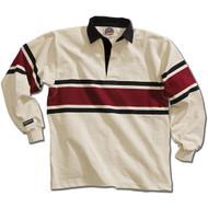 Barbarian Acadia Design Unisex Rugby Hoodie - York/Black/Maroon