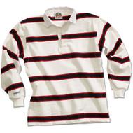 Barbarian Niagara Design Unisex Zip Hoodie  - White/Dark Red/Black