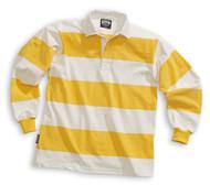 Barbarian Casual 4 Inch Stripe Design Unisex Shirt - White/Yellow