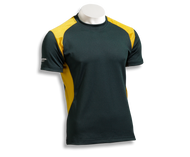 Barbarian Men's Eclipse Pro-Fit Premium Rugby Jersey - Bottle/Gold