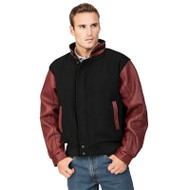 Graduate Men's Melton Leather Jacket