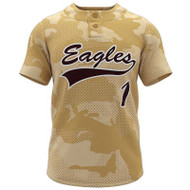 AthElite Mens Dinger Short Sleeve Baseball 2- Button Jersey (AE-BA-JS-115)