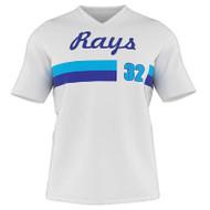 AthElite Mens Dinger Short Sleeve Baseball V-Neck Jersey (AE-BA-JS-141)