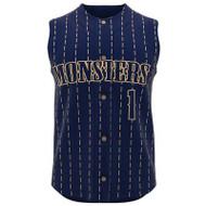 AthElite Youth Dinger Sleeveless Baseball Full Button Jerseys (AE-BA-JSY-111)