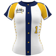 AthElite Girls Ace Short Sleeve Baseball Full Button Jersey (AE-BA-JSY-127)