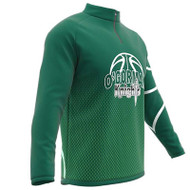 AthElite Mens Long Sleeve Universal QZ Pullovers Basketball Shooting Shirt (DNA) (AW-ACS-319)