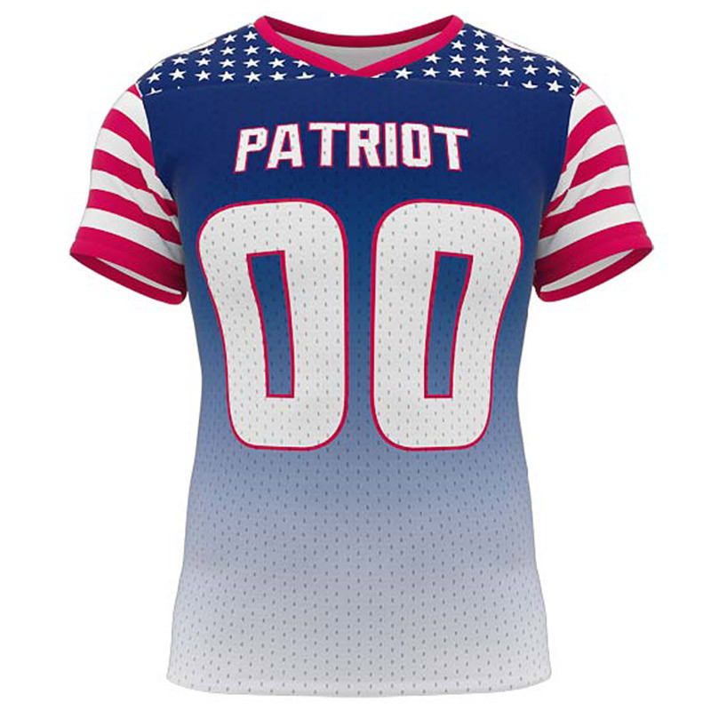 f8c1a23c7 Athelite Boys Patriot Flag Football Jersey- Sublimated Football Uniforms -  Football