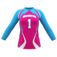 AthElite Girls Attack Long Sleeve Voolleyball Jersey (AE-VB-JSY-132