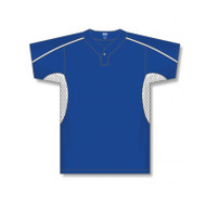 Athletic Knit Adult One Button Underarm Insert  Baseball Jersey