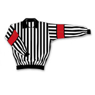Athletic Knit Polyester Long Sleeve Hockey Referee Jersey - Snaps for Armband