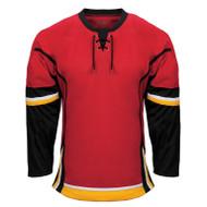 Kobe Calgary–K3G Knit Youth Away Hockey Jersey - K3G48YA (KO-K3G48YA)