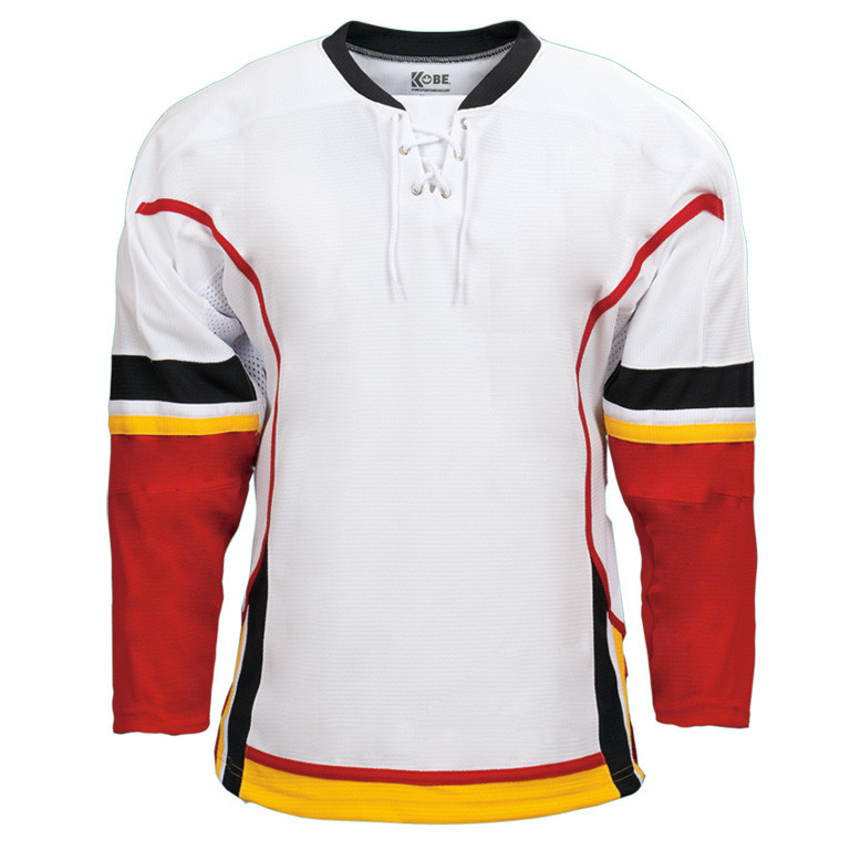 Kobe Calgary–K3G Knit Youth Home Hockey Jersey- shop by sport ... 3c1a0ffd904