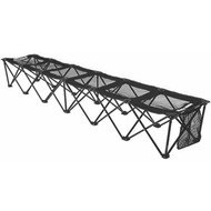 8 foot Portable Bench (holds 6 people) - Black