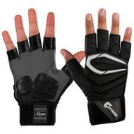 Cutters Lineman Half Finger Football Gloves. Black, XL (C017LH-BK-XL) (view)
