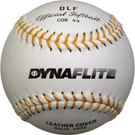 Dynaflyte leather softball White, .44 core