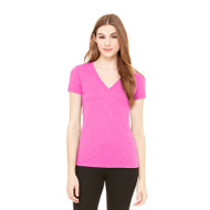 Bella + Canvas Ladies' Triblend Short-Sleeve Deep V-Neck T-Shirt (AS-8435)