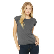 Bella + Canvas Ladies' Flowy Muscle T-Shirt with Rolled Cuff (AS-8804)