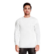 Next Level Adult Inspired Dye Long-Sleeve Crew with Pocket (AS-7451)