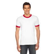 American Apparel Unisex Poly-Cotton Short-Sleeve Ringer T-Shirt (AS-BB410W)
