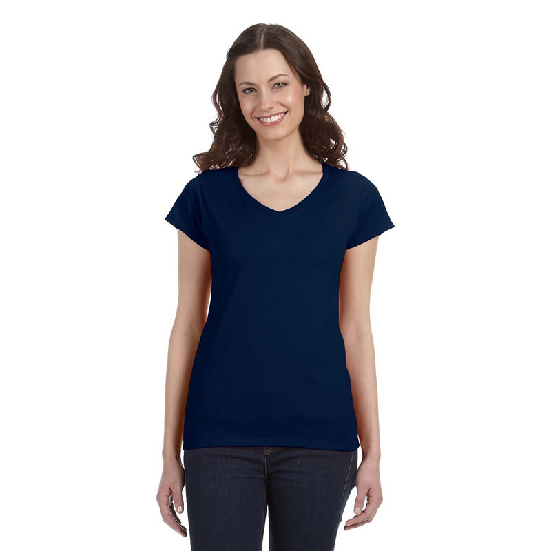 be2ea9cca2ca Gildan Ladies' SoftStyle Fitted V-Neck Short Sleeve T-Shirt (AS-. Click to  enlarge