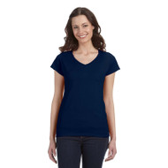 Gildan Ladies' SoftStyle Fitted V-Neck Short Sleeve T-Shirt (AS-G64VL)