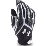Men's Combat FF Football Gloves - Black - MD (U-1271190-BK-M)