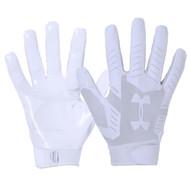 UA F6 Football Glove - White