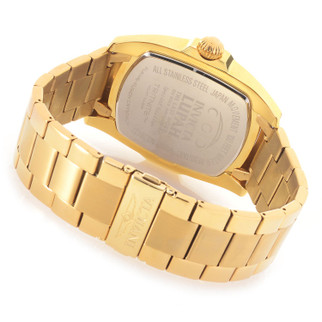 Invicta Grand Lupah Quartz Abalone Dial Bracelet Watch Goldtone