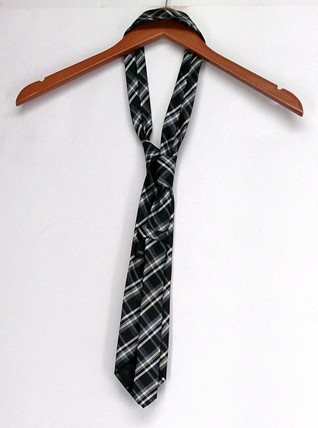 Republic Size One Size Men's Neck Tie Printed Pointed End Black