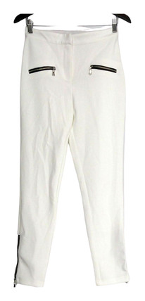 SA by Seth Aaron Pants Sz 4 Regular Slim Leg Pants White A265203