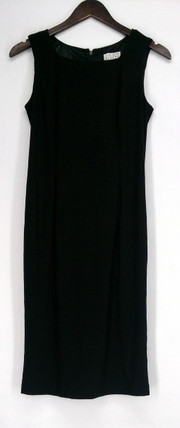 Joan Rivers Classics Coll. Dress 2 Luxe Knit Square Neck Sheath Black A258829