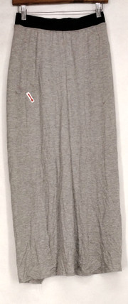 Nancy O'Dell Size XS Stretch Knit w/ Front Slit Heather Gray Skirt Womens