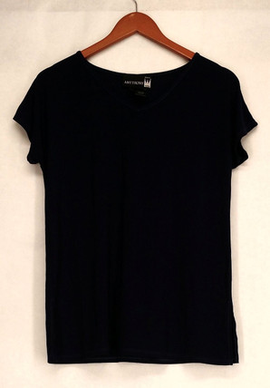Antthony T-Shirt Top Sz M Stylish & Sensational Basic Tee Blue Womens 503-571
