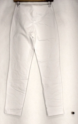 Women w/ Control Size XXS Pull On Solid White Pants Womens