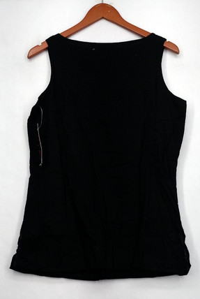 Carson Kressley Top Sz S Embellished Jeweled Tank Black Womens A400981