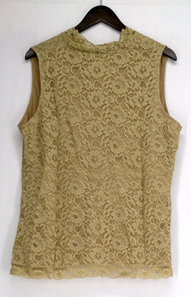 Kathleen Kirkwood Plus Size Top 1X Antoinette Camisole Beige A93653