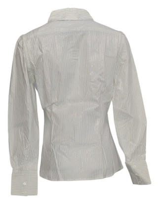 Elisabeth Hasselbeck for Dialogue Sz 6 Button Front Shirt White NEW NWOT