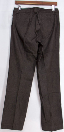 Motto Size 6 Yarn-Dyed Twill Fly Front Boot Cut Dark Brown Pants A95258