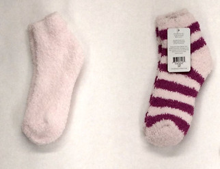 Colorado Clothing One Size Plush Striped Pink Socks Womens A402522